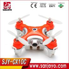 Cheerson mini uav CX-10C Nano drone 2.4G 4CH 6 Axis RC tiny Quadcopter with Camera