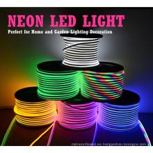110 v 220 v luz de tira de neón flexible rojo azul amarillo verde blanco cálido rgb decoratio al aire libre led neón precio de la flexión