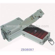 Neue Design-Metall Schmuck-Box mit ABS Verkleidung und Ring rollt innen