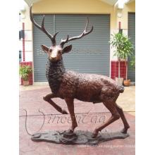 Home goos garden statue metal crafts bronze life size deer statues