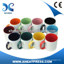 300ml mugs Sublimation Inner & Handle Color Coated Mug