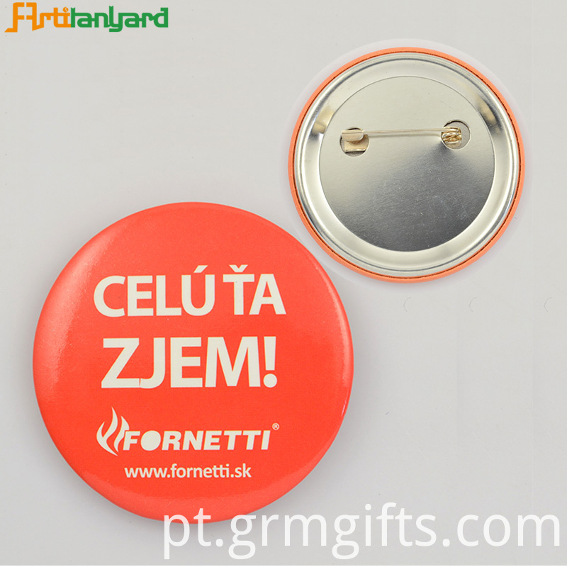 Flat And Small Button Badge
