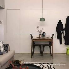 Venta caliente puerta secreta de la puerta de la habitación de madera tallado diseño invisible color blanco puerta principal