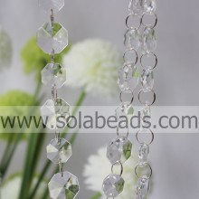 Cheapest 14mm&18mm Crystal Plastic Bead Chain Trimming