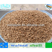 0,5-1 mm Nussbaum in Shelf Filtermedien zum Polieren
