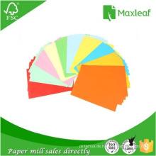 Hersteller von A4 Farbverpackungspapier für Bürogebrauch mit 100% Holzzellstoff