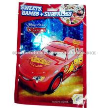 Sac d'emballage en plastique coloré de jouet de voiture d'Opp