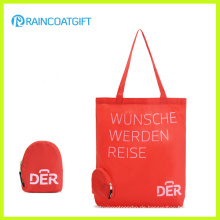 Benutzerdefinierte Logo Printed Nylon Shopper Handtasche mit Klapptasche