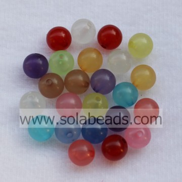 The Idea of 12mm Colored Ball Smooth Tiny beads