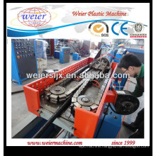 Plastic single wall corrugated pipe line