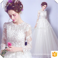 China Suzhou Vestido de Casamento Bridal Gown 2016 Long Sleeves Bride Wedding Pattern Ball Gown Wedding Dresses
