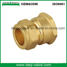 OEM&ODM Quality Brass Forged Strainght Compression Coupling (AV7002)
