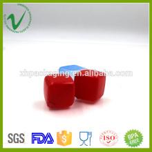 Botella plástica cuadrada colorida del plástico del cubo del grado alimenticio del LDPE
