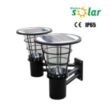 2015 Bright lighting CE Double burner solar LED wall light stainless steel wall lamp JR-2602