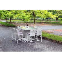 Großer Garten Rattan Bar Tisch und Stühle im Freien