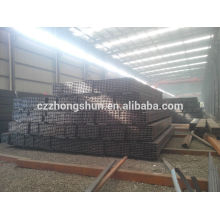 China Ms tubes carrés / Construction de tuyau Q235 / Q345 / SS400 Section creuse carrée ASTM A500 IN DUBAI