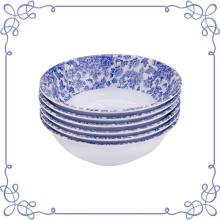 9 Inch Melamine Shallow Bowls set of 6