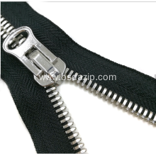 Factory Supplier for Metal Stainless Steel Zipper No.13 Metal One-Way Closed-End Shoes Zipper export to South Korea Exporter
