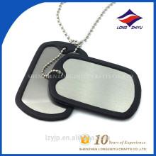 Etiqueta de perro plástica en blanco del logotipo del laser de la impresión del acero inoxidable de las ventas calientes