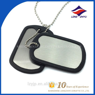 Hot sales stainless steel print laser logo blank plastic dog tag