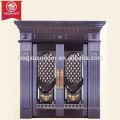 Casa Comercial ou Residencial Porta Bronze, Design Moderno Simples, porta dupla revestida de cobre