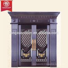 Maison à usage commercial ou résidentiel Porte en bronze, porte en tôle de cuivre double feuille
