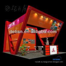 Diseño y construcción de stands de exposición de isla 20x20