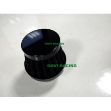Filtros de ventilación de aire negro de 15 mm para el tubo de admisión de aire de la motocicleta