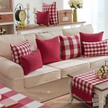 Rotes und weißes Ripstop-Kissen-Kissen