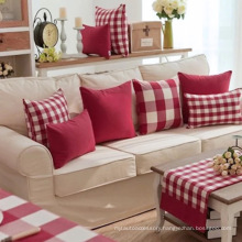 Red And White Ripstop Pillow Cushion