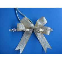 Glitter Silver Ribbon Elastic Bow