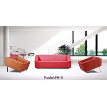 Modern Leather Sectional Office Sofa (FH-3)