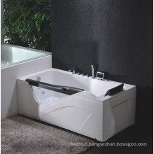 Corner Massage Bathtub with Tempered Glass