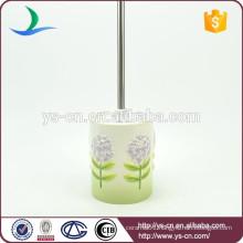 Printed decorative toilet brush holder