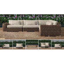 BORA BORA - All Weather Widerstand Wicker PE Rattan Outdoor Living Sofa Sets für Gartenmöbel