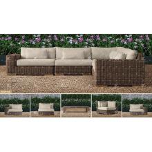 BORA BORA - All Weather Widerstand Wicker PE Rattan Outdoor Living Sofa Sets für Gartenmöbel