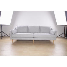 3-seat modern sofa in fabric