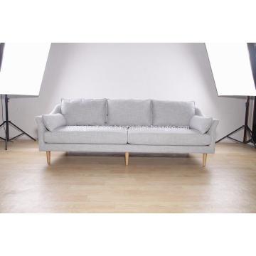 3-seat modern sofa in fabric