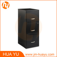 Office Designs 3 Drawer Carbon Black Steel File Cabinet