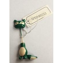 Schöne grüne kleine Katze Brosche mit Metall