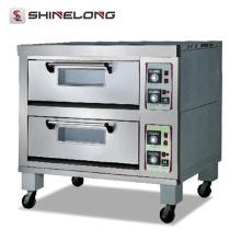 K176 Zweischichtige elektrische Pizza Maker Maschine