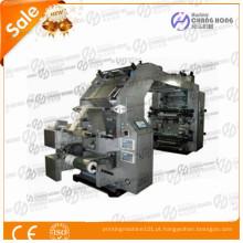 Máquina de impressão flexográfica de filme plástico para tipografia