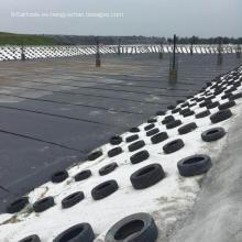 HDPE plástico materia prima geomembrana impermeable