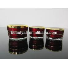15ml 30ml 50ml Tapered Luxo Cosmético Embalagem Acrílico Jar
