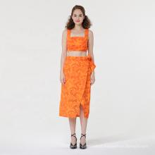 Bordado de moda sexy Split Skirt