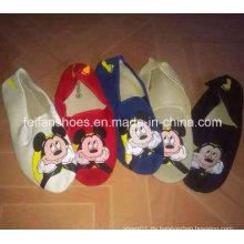 Neueste billige Print Mickey Injection Sport Canvas Schuhe Stock (FF329-7)