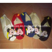 Latest Cheap Print Mickey Injection Sports Canvas Shoes Stock (FF329-7)
