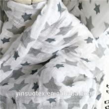 100% tela de algodón de algodón envolturas de tela