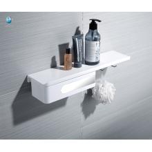 Estante montado en la pared blanco del ABS Soporte multifuncional del cuarto de baño