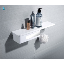 ABS White Wall Mounted rack Bathroom Multifunction Holder